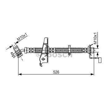 Cable de accionamiento, freno de estacionamiento BOSCH 1987477058