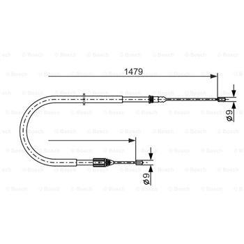 (10 PK 1445) Correa trapezoidal nervada BOSCH 1987945511