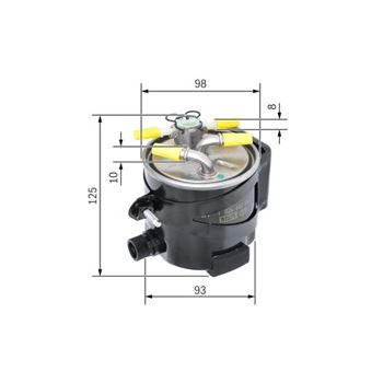 Filtro de combustible F45 F46 X1 F48 MINI F54-57 BMW 13328584868 (13328515903)
