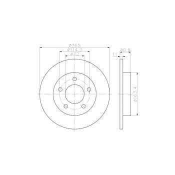 Disco de freno BREMBO-08131010