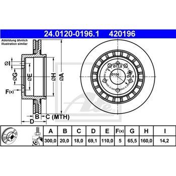 Disco de freno BREMBO-08150910