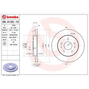 Kit Tambor + Rodamiento BREMBO-14559450