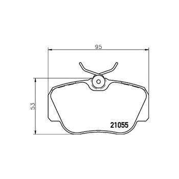 Kit de frenos (discos y pastillas) BREMBO-DP06006