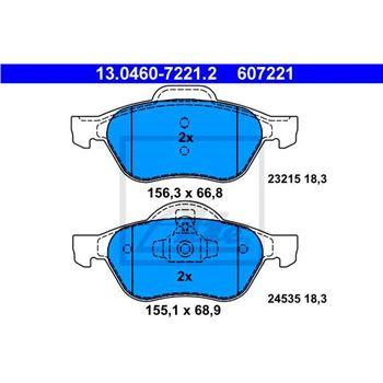 Fusible estándar con conector plano 15A, Azul