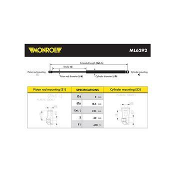 Articulación axial, barra de acoplamiento | Monroe L0011